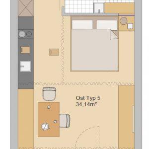 Gurndriss spiegel Appartement