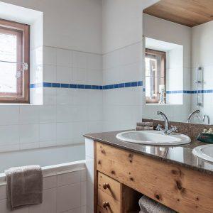 Badezimmer Hof Suite im Kühtaier Hof